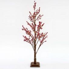 Χριστουγεννιάτικο δέντρο berry 120cm ύψος φωτιζόμενο με 72 mini led λαμπάκια θερμό λευκό φώς μη στεγανό IP20 και διάμετρο 50cm