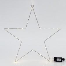 Χριστουγεννιάτικο μεταλλικό κρεμαστό αστέρι Φ50cm φωτιζόμενο με 65 led θερμό λευκό φως διακοσμητικό στεγανό αδιάβροχο IP44