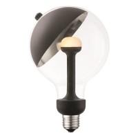 Λάμπα led γλόμπος (globe) Φ120 E27 5,5W 2700K θερμό φως Move me με μαγνητικό κινούμενο καθρέπτη για κατευθυνόμενη δέσμη μαύρο 450 lumen