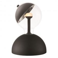 Φωτιστικό γραφείου κομοδίνου μαύρο επιτραπέζιο ημισφαιρικό Ε27 Move me με μαγνητικό κινούμενο καθρέπτη για κατευθυνόμενη δέσμη Φ17cm