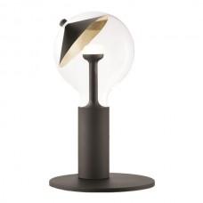 Φωτιστικό γραφείου κομοδίνου μαύρο κολώνα επιτραπέζιο Ε27 Move me με μαγνητικό κινούμενο καθρέπτη για κατευθυνόμενη δέσμη Φ16cm