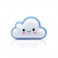 Φωτιστικό νυκτός (φωτάκι) παιδικό led mini 1W 3000Κ θερμό λευκό φως πρίζας με διακόπτη σχέδιο σύννεφο 30lumens