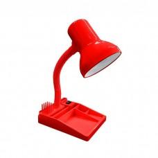 Φωτιστικό γραφείου με μολυβοθήκη πορτατίφ Ε27 ντουί με σπιράλ λαιμό χρώματος κόκκινο και διακόπτη