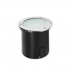 Φωτιστικό σποτ δαπέδου δρόμου στρογγυλό STAINLESS STEEL GX53 νίκελ στεγανό IP64 Φ12,8cm x 11,7cm εγκοπής Φ10cm για λάμπες led