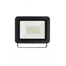 Προβολέας led 100w (100 watt) smd slim τύπου taplet θερμό λευκό φως 3000Κ αλουμινίου στεγανός IP65 8000lumen 23cm x 29cm 2,7cm