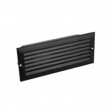 Φωτιστικό διαδρόμου χωνευτό με κυρτή περσίδα ντουί E27 χρώματος μαύρο στεγανό IP44 23,3cm x 10cm x 8cm