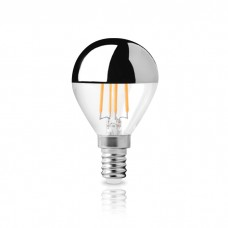 Λάμπα led ντιμαριζόμενη (dimmable) 6W E14 σφαιρικό μπαλάκι ανεστραμμένου καθρέφτη G45 2800K θερμό λευκό φως filament edison 180° 230V