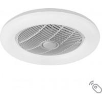 Ανεμιστήρας στρογγυλός οροφής 35W χρώμα λευκό με led φως 35W (επιλογή χρώματος) κοντρόλ (τηλεχειριστήριο) διάμετρος Φ55cm και 7 πτερύγια