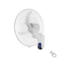 Ανεμιστήρας τοίχου (επίτοιχος) λευκός πλαστικός Φ45cm 60W περιστρεφόμενος με τηλεχειριστήριο (τηλεκοντρόλ) 3 φτερωτές και 3 ταχύτητες