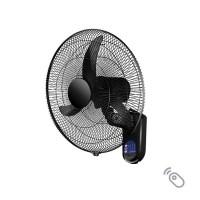 Ανεμιστήρας τοίχου (επίτοιχος) μαύρος πλαστικός Φ45cm 60W περιστρεφόμενος με τηλεχειριστήριο (τηλεκοντρόλ) 3 φτερωτές και 3 ταχύτητες