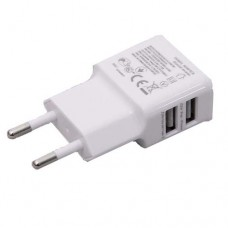 ΠΡΙΖΑ ΦΟΡΤΙΣΤΗΣ USB ΔΙΠΛΟ 2.1A P10 ΧΡΩΜΑΤΟΣ ΑΣΠΡΟ