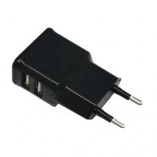 ΠΡΙΖΑ ΦΟΡΤΙΣΤΗΣ USB ΔΙΠΛΟ 2.1A P10 ΧΡΩΜΑΤΟΣ ΜΑΥΡΟ