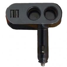 ΦΟΡΤΙΣΤΗΣ ΑΥΤΟΚΙΝΗΤΟΥ DUAL USB 3.1A WF0100 ΧΡΩΜΑΤΟΣ ΜΑΥΡΟ