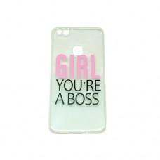 Θήκη HUAWEI P10 LITE κινητού τηλεφώνου TPU σιλικόνης πολύ λεπτή χρώματος διάφανο girl you are a boss