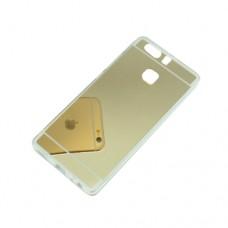 Θήκη HUAWEI P9 κινητού τηλεφώνου TPU με καθρέφτη πλαστική χρώματος χρυσό