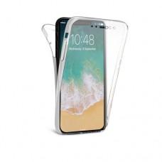 Θήκη iphone X κινητού τηλεφώνου TPU σιλικόνης χρώματος διάφανο front - back 360⁰
