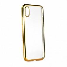 Θήκη iphone X κινητού τηλεφώνου electro jelly back cover πλαστικό χρώματος χρυσό