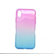 Θήκη iphone X κινητού τηλεφώνου back cover ombre χρώματος μώβ μπλέ