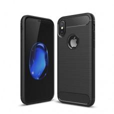 Θήκη iphone X κινητού τηλεφώνου back cover carbon χρώματος μαύρο