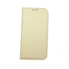 Θήκη iphone X κινητού τηλεφώνου δερμάτινη smart magnet book χρώματος χρυσό
