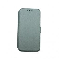 Θήκη iphone X κινητού τηλεφώνου δερμάτινη pocket book χρώματος γκρί