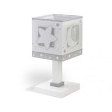 Φωτιστικό κομοδίνου γραφείου παιδικό Gray moon (γκρί φεγγάρι) E14 διπλού τοιχώματος
