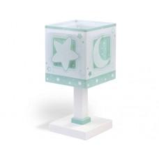 Φωτιστικό κομοδίνου γραφείου παιδικό Green moon (πράσινο φεγγάρι) E14 διπλού τοιχώματος