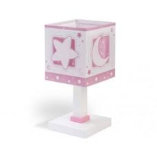 Φωτιστικό κομοδίνου γραφείου παιδικό pink moon (ρόζ φεγγάρι) E14 διπλού τοιχώματος
