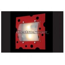 Φωτιστικό απλίκα πλαφονιέρα τοίχου και οροφής δίφωτο 2 x Ε27 μεταλλικό χρώματος κόκκινη