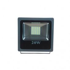 Προβολέας led 20w (20 watt) ενδιάμεσο λευκό φως 4000Κ αλουμινίου γκρί στεγανός IP65 2000lumen