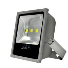 ΠΡΟΒΟΛΕΑΣ LED ΑΛΟΥΜΙΝΙΟΥ 200WATT ΓΚΡΙ 4Χ50W (200W) ΣΤΕΓΑΝΟΣ ΙP65 ΨΥΧΡΟ ΛΕΥΚΟ ΦΩΣ 6500Κ