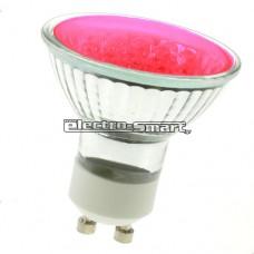 ΛΑΜΠΑ LED 3W GU10 230V SMD 120° ΚΟΚΚΙΝΟ ΧΡΩΜΑ