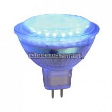 ΛΑΜΠΑ LED 3W MR16 12V AC/DC SMD 120° ΜΠΛΕ ΧΡΩΜΑ