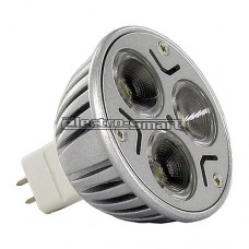 ΛΑΜΠΑ LED 3W MR16 12V AC/DC ΙΣΧΥΟΣ 45° ΘΕΡΜΟ ΛΕΥΚΟ 2700Κ