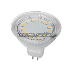 ΛΑΜΠΑ LED 3W MR16 12V AC/DC SMD 120° ΘΕΡΜΟ ΛΕΥΚΟ 2700Κ