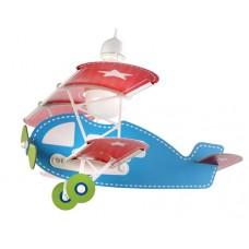 Φωτιστικό παιδικό μονόφωτο σειρά Baby Planes (αεροπλάνα) κρεμαστό οροφής γαλάζιο E27 με κιτ ανάρτησης