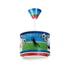 Φωτιστικό παιδικό μονόφωτο σειρά Football (ποδόσφαιρο) κρεμαστό οροφής διπλού τοιχώματος E27 με κιτ ανάρτησης (δώρο μια λάμπα LED E27)