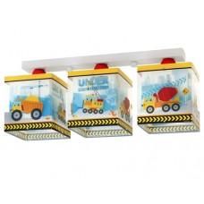 Φωτιστικό παιδικό σειρά Κατασκευές τρίφωτο 3ΧΕ27 σε ράγα οροφής