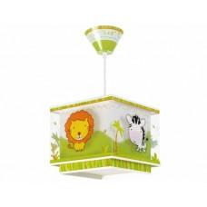 Φωτιστικό παιδικό μονόφωτο σειρά Little Zoo (ζούγκλα) κρεμαστό οροφής E27 με κιτ ανάρτησης