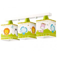 Φωτιστικό παιδικό σειρά Little Zoo (ζούγκλα) τρίφωτο 3ΧΕ27 σε ράγα οροφής