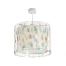 Φωτιστικό παιδικό μονόφωτο σειρά rain color (χρωματιστές σταγόνες βροχής) κρεμαστό οροφής E27 με κιτ ανάρτησης διπλού τοιχώματος (δώρο μια λάμπα LED E27)