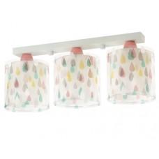 Φωτιστικό παιδικό σειρά rain color (χρωματιστές σταγόνες βροχής) τρίφωτο 3ΧΕ27 σε ράγα οροφής