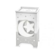 Φωτιστικό κομοδίνου γραφείου παιδικό σειρά Moon gray (φεγγάρι-αστέρι γκρί) E14