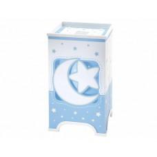 Φωτιστικό κομοδίνου γραφείου παιδικό σειρά Moon blue (φεγγάρι-αστέρι μπλέ) E14