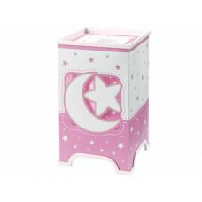 Φωτιστικό κομοδίνου γραφείου παιδικό σειρά Moon pink (φεγγάρι-αστέρι ροζ) E14