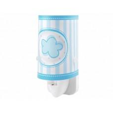Φωτάκι νυχτός (φωτιστικό) παιδικό led πρίζας με διακόπτη μπλε συννεφο