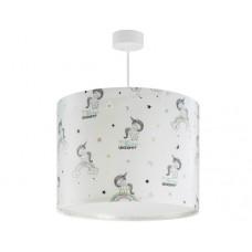 Φωτιστικό παιδικό μονόφωτο σειρά Unicorns (μονόκερος) κρεμαστό οροφής E27 με κιτ ανάρτησης (δώρο μια λάμπα LED E27)