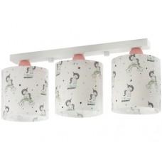 Φωτιστικό παιδικό σειρά Unicorns (μονόκερος) τρίφωτο 3ΧΕ27 σε ράγα οροφής