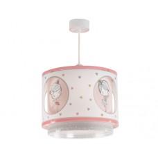 Φωτιστικό παιδικό μονόφωτο σειρά Sweet dance (πολύχρωμες μπαλαρίνες) διπλού τοιχώματος κρεμαστό οροφής E27 με κιτ ανάρτησης (δώρο μια λάμπα LED E27)