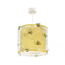 Φωτιστικό παιδικό μονόφωτο σειρά Bee happy (μελισσούλες) διπλού τοιχώματος κρεμαστό οροφής E27 με κιτ ανάρτησης (δώρο μια λάμπα LED E27)